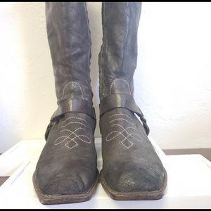 Anthropologie Bernardo Harness Boots Festival 7.5